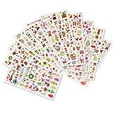 Naler Noël Autocollants Bonhomme de Neige Renne Flocons de Neige Sticker Graphiques pour Cadeau de Noël Scrapbooking Artisanat décoration 10 PCS