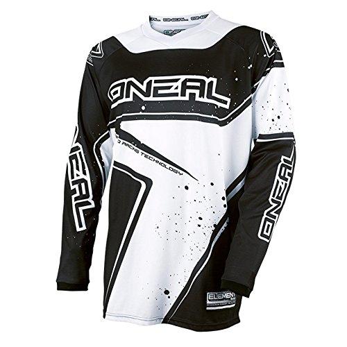 O'Neal Element Racewear Youth Kinder Jersey Weiß Schwarz MX MTB DH Trikot Motocross Offroad, 0029-10, Größe S