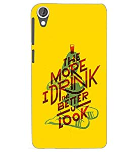 HTC DESIRE 820 MORE I DRINK Back Cover by PRINTSWAG