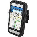 Goliton® le nouveau support sac étui de téléphone mobile étanche de vélo de rotation moto guidon monter téléphone GPS titulaire pour iPhone 6 de 4.7 pouces.-Noir