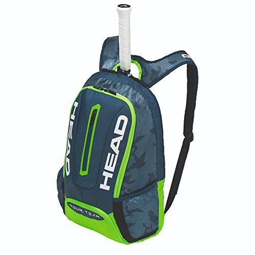 HEAD Tour Team Rucksack Tennisschlägertasche, Unisex, 283148NVGE, Marineblau/grün, Einheitsgröße