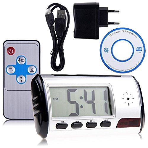 SHS® Wecker, Abhörmikrofon, Mikrokamera, Webcam, Audioaufzeichnung, HD-Videokamera (Shs-audio)