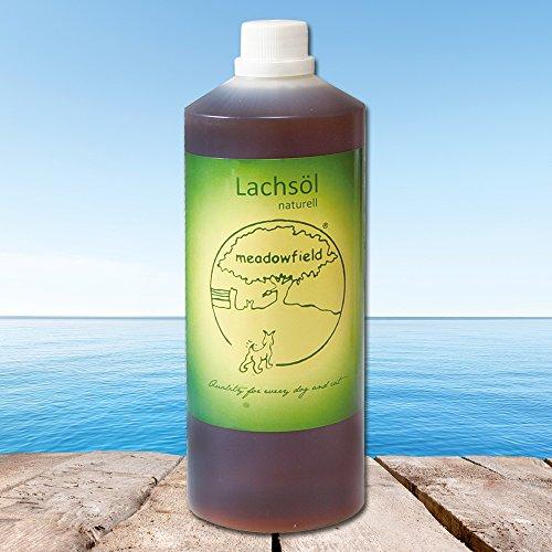 Artikelbild: Lachsöl naturell Reines, unbehandeltes, frisches Lachsoel vom schottischen Wildlachs für Hunde Das Fischöl ist frei von Zusätzen