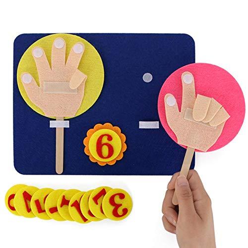 l Mathe Spielzeug, Finger Zahlen Set Kind Lehrspielzeug, Kindergarten Mathematik Pädagogisches Spielzeug Kinder Interactive Game ()