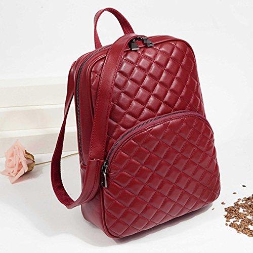 Zaino Borsa Borsa Da Viaggio Universitario Zaino Da Viaggio In Pelle Di Diamanti PU Donna Per Lady Multicolor Red