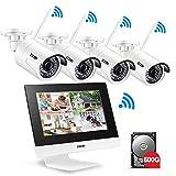 ZOSI Kabellos Video Türklingel DoorBell mit HD 720P 166Grad Kamera...