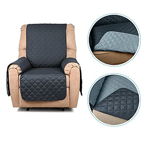 Auralum 1 seater Recliner Sofa cover Reversible Sofa Seat Protector