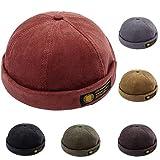 YAMEE Docker-Cap Docker Mütze Seemannsmütze Hafenmütze Bikercap Basecap ganzjährig Tragbar Hat (Rot)