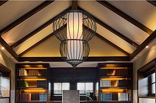 Anjz@Métal Retro Suspensions Industrielle Vintage Plafonniers Lustre Culot Eclairage de Suspensions Plafonniers Luminaire/110V-220V/Size?40cm*H50cm