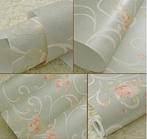 JSLCR Warmen rosa Schlafzimmer Wohnzimmer Tapete, non-Woven Tuch lila koreanischen Heimat Tapete,Beige