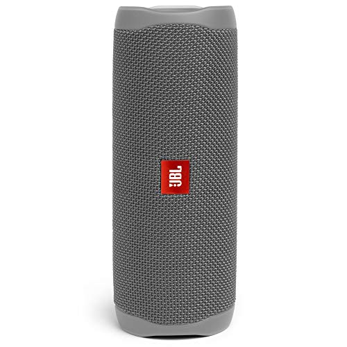 JBL Flip 5 Portable Bluetooth Speaker with Rechargeable Battery, Waterproof, PartyBoost Compatible, Grey Stone