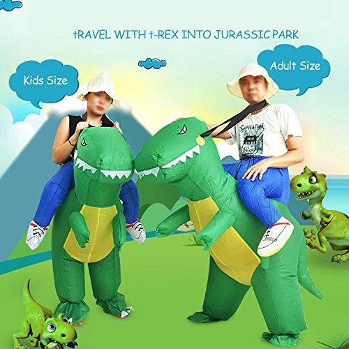 Imagen de anself  disfraz inflable de dinosaurio para fiesta / halloween / cospaly / carnaval alternativa