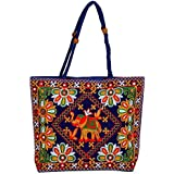 Zoya Gems & Jewellery Traditional Embroidered Rajasthani Hand Bag/Handmade Work/Purse for Girls (BLUE) Carry Bag