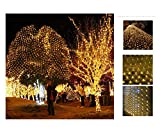 Outdoor LED Wasserdichtes Netz Licht, Innen und Gartenbaum Architektonische Dekorative Lichterketten, Weihnachten Halloween Valentinstag Hochzeit Atmosphäre Lichter, 2x2m (Size : 1.5 * 1.5m)