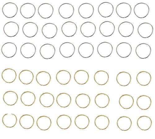 Homgaty 100Haar schnurringe, Haar Schlaufen Clip Dekoration Frisur Zubehör, 50x Gold und 50x Remasuri