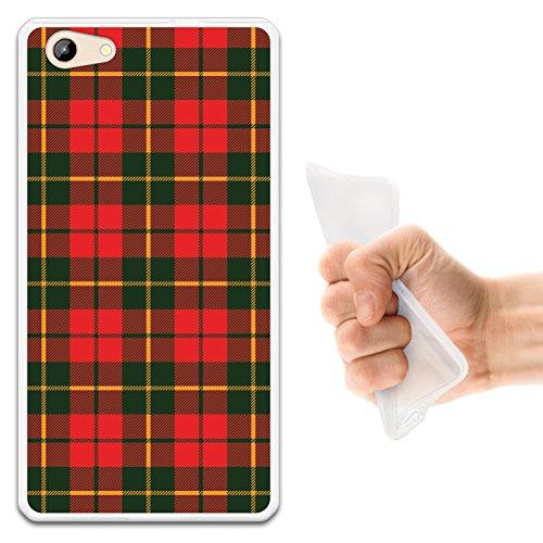 WoowCase Doogee Y300 Hülle, Handyhülle Silikon für [ Doogee Y300 ] Grünes & rotes schottenkaro Hemd Handytasche Handy Cover Case Schutzhülle Flexible TPU - Transparent