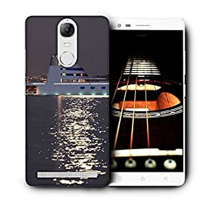 Snoogg White Ship On Sea Printed Protective Phone Back Case Cover For Lenovo K5 Note