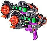 2x Space Wasser-Pistole Kinder-Spielzeug 60cm Schwarz Grün Rot Lila Wasser-Spritze Sommer-Spielzeug...