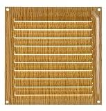 Brinox B70220Y - Rejilla de ventilación (15 x 15 cm) color madera clara