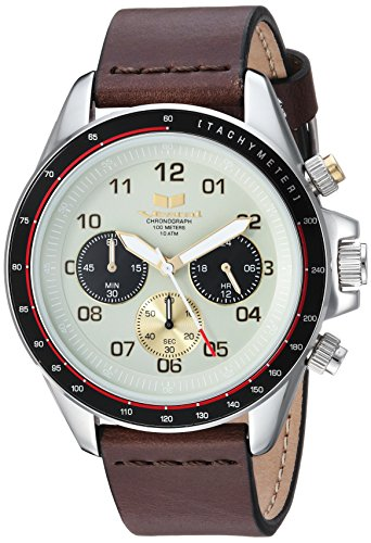 Vestal 'ZR2' Quartz Stainless Steel and Leather Casual Watch, Color:Brown (Model: ZR243L01.DB)