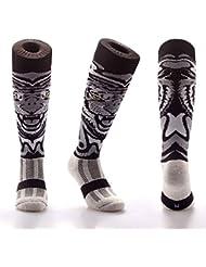 Samson Hosiery® Tigre Blanco Impresión Funky Novedad Moda Regalo Calcetines de fútbol RUGBY deportes y Casual rodilla alta calcetines para hombres mujeres niños unisex