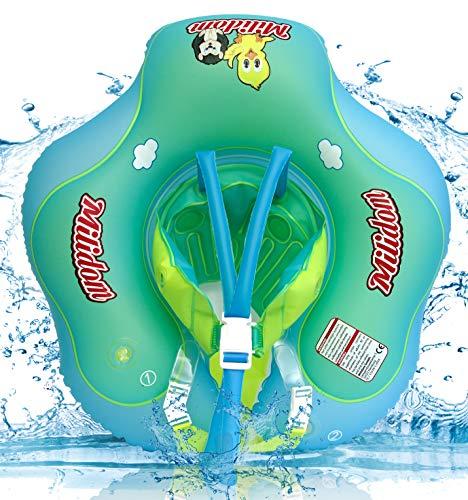 Milidom® Baby Schwimmtrainer mit abnehmbaren Höschen I Mitwachsende Schwimmhilfe ISchwimmring, Schwimmsitz I Baby Float, Schwimmreifen für Babys, Kleinkinder, Kinder ab 3 Monate bis 6 Jahre (Blau)