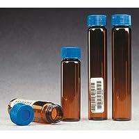 """i-chem S346–0060cristal de borosilicato 60ml 300Serie Ámbar Vial Con 0.125""""Septo (Pack de 72)"""