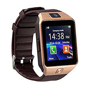 Bluetooth 3.0Smart Watch with Camera, TF/Sim Card Slot Wrist Smart Watch with Pedometer Anti-Loss Function for, Samsung, HTC, LG, Sony, Huawei Smartphones Android and iOS (Partial Function)