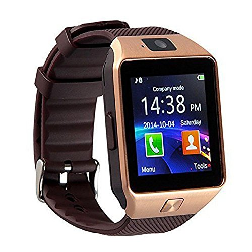 Bluetooth 3.0 Smart Watch with Camera, TF/Sim Card Slot Wrist Smart Watch with Pedometer Anti-Loss Function for, Samsung, HTC, LG, Sony, Huawei Smartphones Android and iOS (Partial Function)