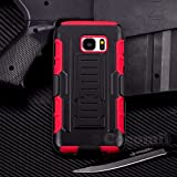 Galaxy S7 Coque, Cocomii Robot Armor NEW [Heavy Duty] Premium Belt Clip Holster Kickstand Shockproof Hard Bumper Shell [Military Defender] Full Body Dual Layer Rugged Cover Case Étui Housse For Samsung G930 (R.Red)