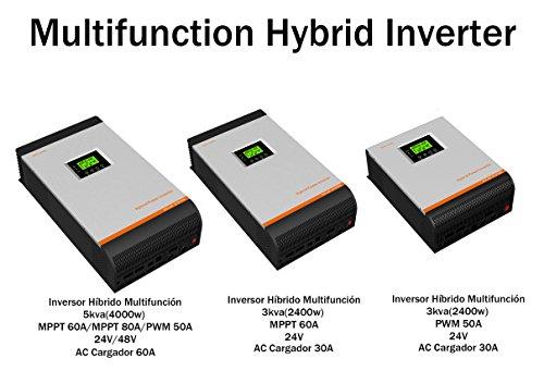 Hybrid-Wechselrichter reine Sinusspannung 3kVA 5kVA Regler 50A 60A 80A AC Ladegerät 60A