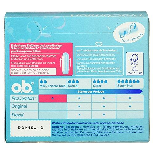 o.b. Pro Comfort Tampons Mini, 1er Pack (1 x 56 Stück)