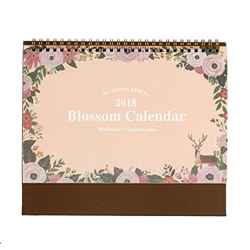2018Monatliche Schreibtischunterlage Kalender, 24,4x 20,6cm Serie, Blossom, Januar–Dezember (grün, ZY) rose