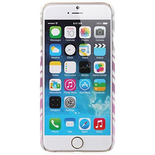 """Fosmon Apple iPhone 6 (4.7"""") Case (MATT-DESIGN) Chevron Rubberized Cheveron Design Case Cover Pink ZigZag"""