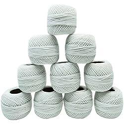 10 piezas de algodón blanco mercerizado para Macramé
