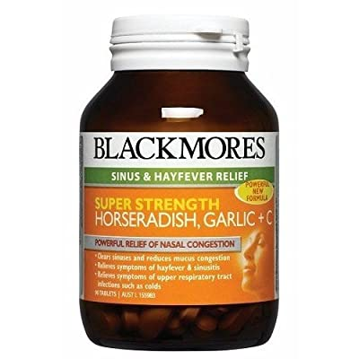 Blackmores Super Strength Horseradish Garlic + C 90 Tabs by Blackmores LTD