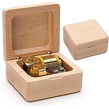 xytmy clásico acabado de madera caja de música Navidad cumpleaños gifts-plays Tunes castillo en el cielo