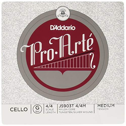 D'Addario J5903T-4/4M Pro Arte Cello Einzelsaite 'G' Silber Wolfram 4/4 Medium
