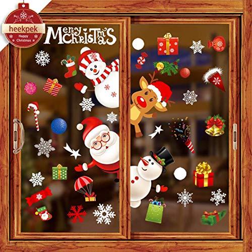 Heekpek Feliz Navidad Pegatinas Ventana Divertidos