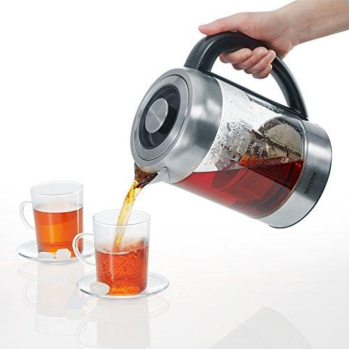 Severin WK 3471 Glas-Tee Wasserkocher, Glas edelstahl gebürstet - 7