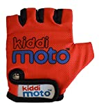 Kiddimoto-2gl001s Guanti Bici per Bimbi, Colore Uni Rosso, S, 2gl001s