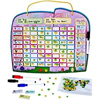 Yoyoboko Premium para niños Tabla magnética de Chore hasta 2 niños – Nueva Ele-Fun Tabla de Estrellas (Inglés)