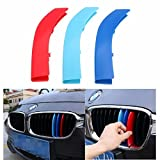 Alamor 3Pcs Front Kidney Grill Grille M Style Decal 3 Colori Fibbia Per Bmw 5 Series 14-15