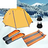 Snow camp Zelt-Lodges im Winter eingestellt/ Dicke Schlafsäcke/ automatische aufblasbares Zelt Licht-A