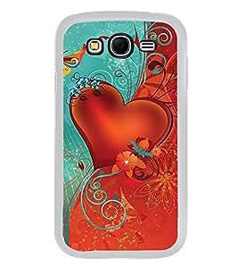 PrintVisa Designer Back Case Cover for Samsung Galaxy Grand Neo I9060 :: Samsung Galaxy Grand Lite (heart love flowers I love you love couple)