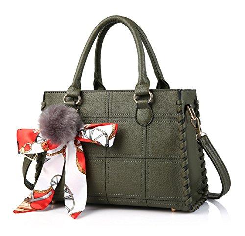 Pu neuer Stil Damen Handtaschen, Hobo-Bags, Schultertaschen, Beutel, Beuteltaschen, Trend-Bags, Velours, Veloursleder, Wildleder, Tasche Grün Keshi