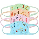 Besties Care Teddy Printed Protective Masks For Kids (Teddy Print Pack Of 4)