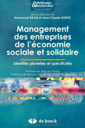 Management des entreprises de l'économie sociale et solidaire : Identités plurielles et spécificités