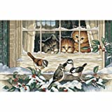 Dimensions 3839 Three Bird Watchers Counted Cross Stitch Kit-14&Apos;&Apos;X9&Apos;&Apos; 18 Count