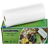 KitchenBoss Vakuumrollen 1 Rollen 20x1500cm Mit 1 kasten cutter Profi- Folienrollen, Kommerzielle Geprägte Taschen für Nahrungsmittelretter und Sous Vide Kochen, FDA-Zustimmung und BPA frei